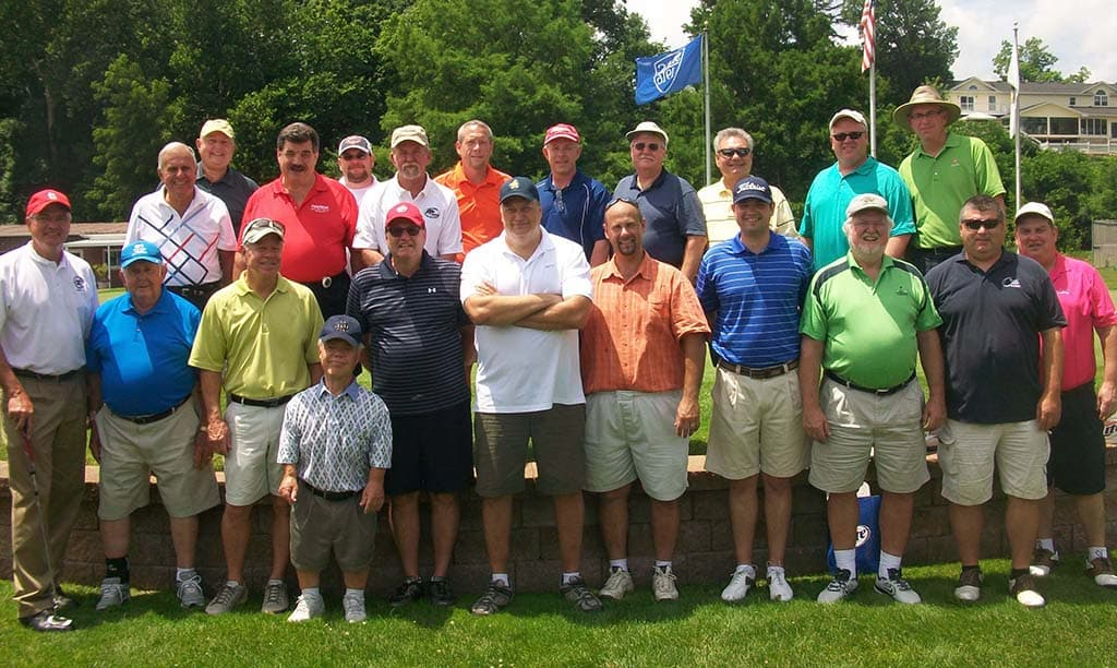 Exchange club members at golf outing