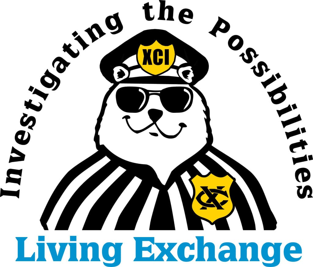 National Exchange Club Living Exchange Time-out Teddy logo