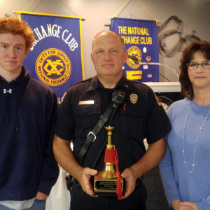 Family posing for Firefighter of the Year