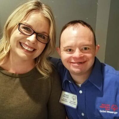 Special Olympics photo of woman and man